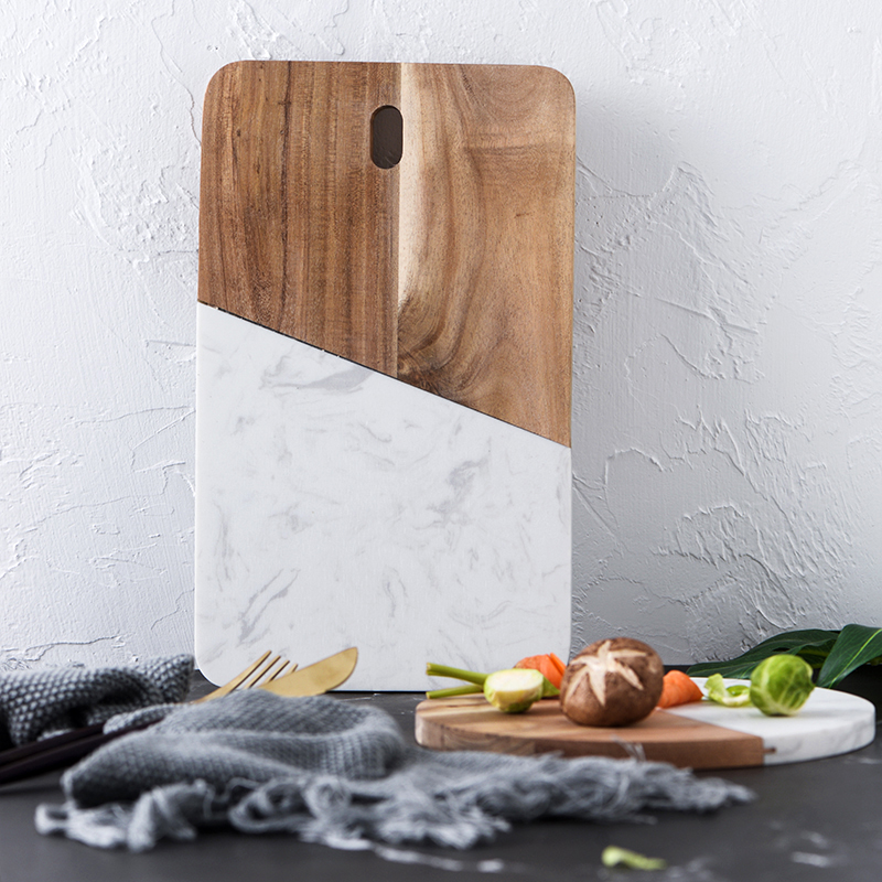 Kitchen accessories marble+ wood board 1