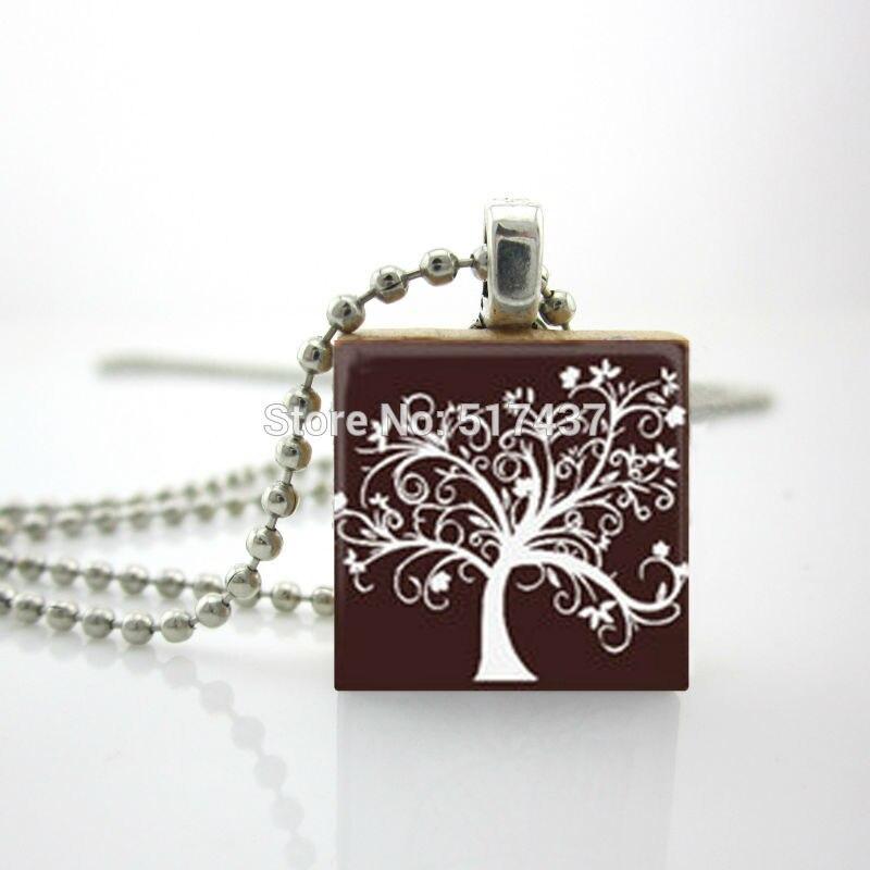 2015 Новый Эрудит Искусство Ожерелье Шоколадное Дерево Ожерелье Игры Эрудит Плитки Украшения