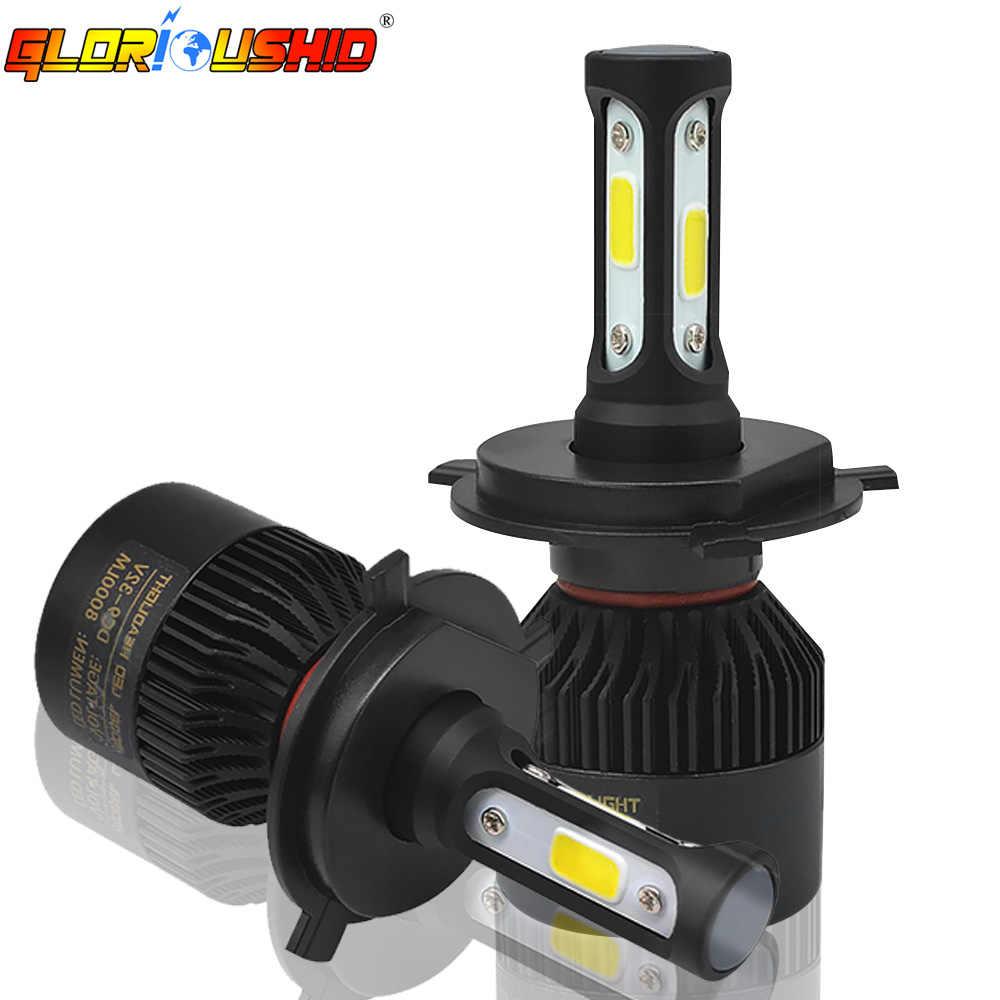 H7 H4 H11 H1 H3 H8 HB4 HB3 Led Headlight Bulb 72W 8000lm Car Light 9005 9006 881 H27 H13 9007 6000K Auto Headlamp Car Styling