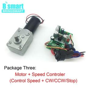 Image 5 - Motor dc 12v bringsmart, engrenagem motores elétricos 24 volts redutor micro motor alto torque 70kg. motor de engrenagem portátil + controlador de velocidade