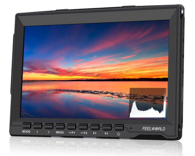 "Frete grátis! Feelworld FW759P 7 ""IPS Ultra-fino Monitor de Campo HDMI Peaking Para BMPCC, GH4, A7S"