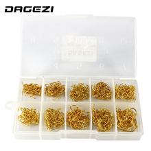DAGEZI  500Pcs/box Size #3-#12 High Carbon Steel Circle Owner Fishing Hooks Set Freshwater Fishhook Sets Strong Fish Tackle 79#
