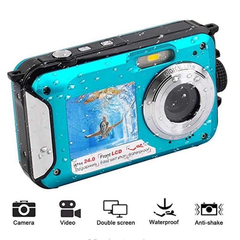 2.7 pouces TFT caméra numérique étanche 24MP MAX 1080 P Double écran 16x Zoom numérique caméscope HD268 caméra sous-marine