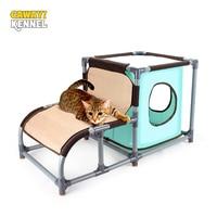 CAWAYI KENNEL Cat Detachable House for Cats Scraper Board Cat Jumping Platform Climbing Frame Toys rascador gato grattoir chat