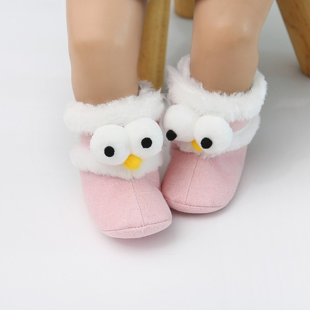 2019 Winter Baby Boots Soft Plush Ball Booties for Infant girls Anti Slip Snow Boot keep Warm Cute Crib Fashion shoes 0-18M 1