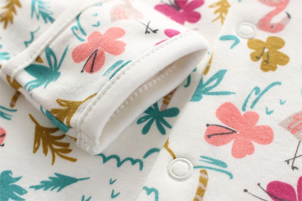 HTB1.Rz7PbvpK1RjSZFqq6AXUVXau Baby Girl Romper Newborn Sleepsuit Flower Baby Rompers 2019 Infant Baby Clothes Long Sleeve Newborn Jumpsuits Baby Boy Pajamas