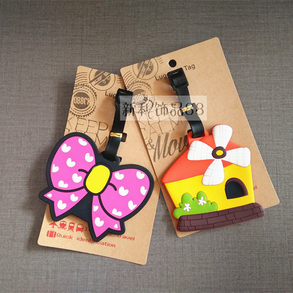 Travel Accessories Creative Windmill Luggage Tag Silica Gel Suitcase ID Addres Holder Baggage Boarding Tags Portable Label New