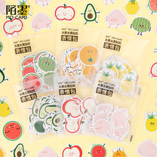 Creative Simple Fruit Series Cute Expressions Hand Sticker Pack, Handbook DIY Diary Decorative Painting Stationery