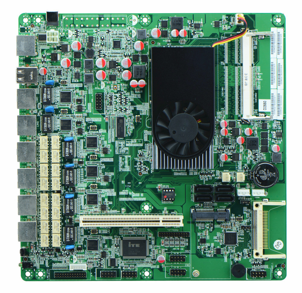 6 Lan Intel Atom D2550 Mini Itx Motherboard With BYPASS Firewall Motherboard FOR 1u