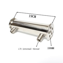 "2 ""OD64 Dephlegmator/Kondensator/Reflux Länge 190mm, 6 rohre ID8mm edelstahl 304 kondensator"