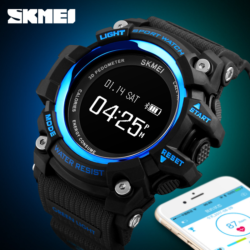 <font><b>SKMEI</b></font> APPLE IOS Android Smart Watch Outdoor Exercise Running Intelligent Wristwatch Distance Remote Camera APP Remind Clock image