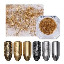 BORN PRETTY Золотая Серебряная полоска для ногтей зеркальные флаконы металлические 3D украшения для ногтей проволочная линия УФ гель украшения для ногтей аксессуары