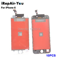 10PCS Grade AAA Factory LCD Display Touch Digitizer For IPhone 6 4 7 Inch Screen With