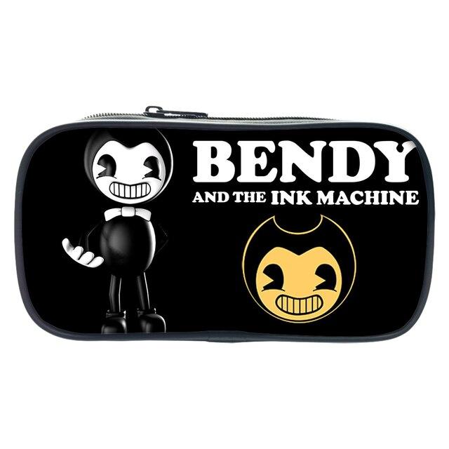 2018 bendy and the ink machine pen bags children cartoon pen box