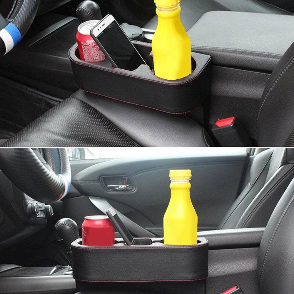 Boîte de rangement voiture organisateur siège Gap poche siège de voiture fente latérale pour portefeuille téléphone pièces tasse Cigarette clés cartes pour universel