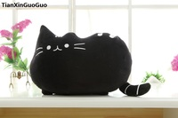about 40cm lovely black cat plush toy soft doll cushion , throw pillow birthday gift s0350