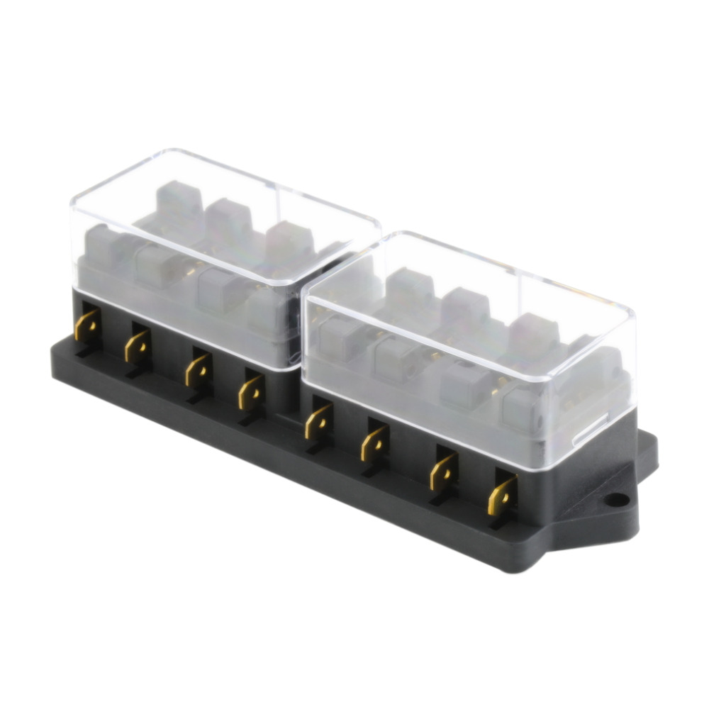 universal 12v 8 way fuse box block fuse holder box car. Black Bedroom Furniture Sets. Home Design Ideas