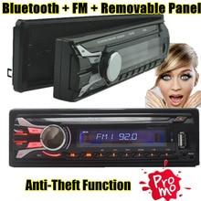 Nueva Radio de Coche bluetooth panel frontal Desmontable panel frontal Seperable 1-Din Estéreo FM USB/SD AUX de Audio Reproductor de MP3 en El Tablero