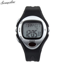 Digital LCD Pulse Coronary heart Charge Monitor Watches Energy Counter Health Waterproof Males girls Clock wholesale v