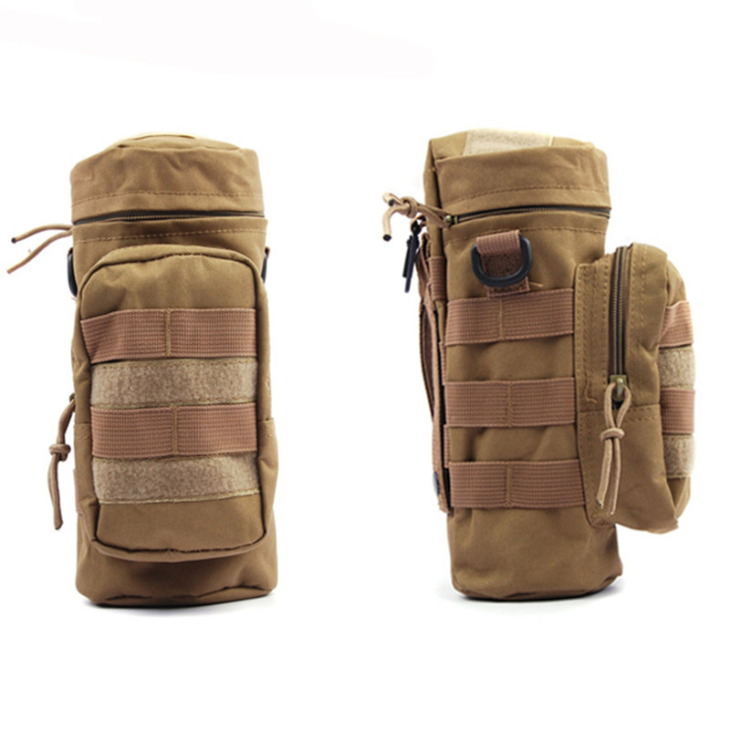 Pocket Water Bottle Molle Pouch Military Compact Carry Bottle Pack Tactical Kettle Pouch with Hook Holder for Camping Hiking   Lahore