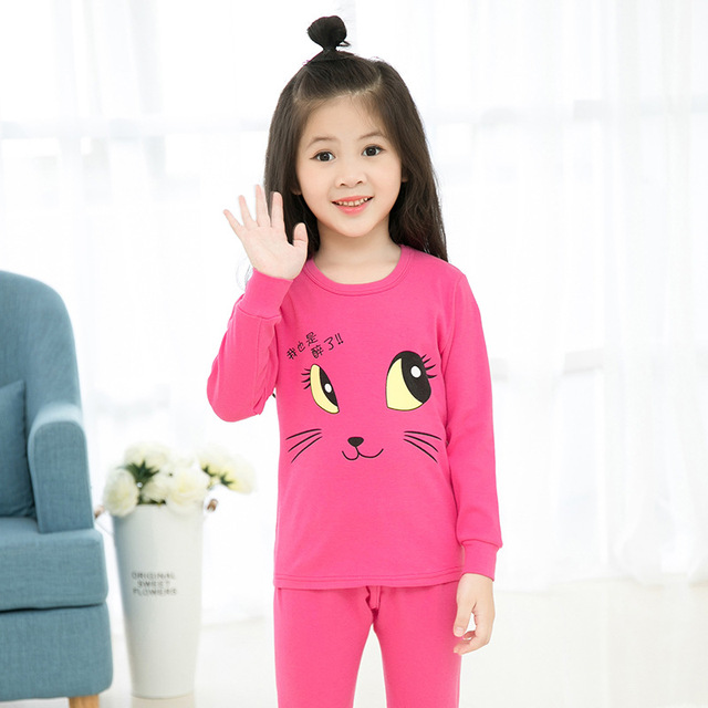 1eb135c929 Big Girls Pajama Sets for Kids Cotton Sleepwear Children Cartoon Clothes  Sets for Teenage Girls Pajama Suits 8 10 11 12 14 Years