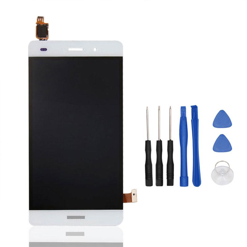 Prix pour Livraison Gratuite LCD d'origine et écran tactile assemblée pour Huawei Ascend P8 Lite mini parfait réparation pièces smartphone-Blanc + outils