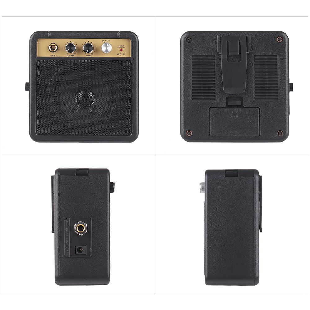 Amplificateur électrique pour haut-parleur d'ampli de guitare 5W avec entrée 6.35mm sortie casque 1/4 pouces prend en charge le réglage du Volume