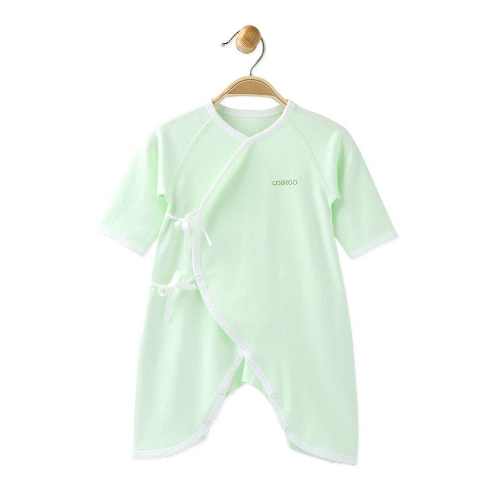 COBROO Baby 100% bawełna Romper z paskiem dekolt w serek z długim - Odzież dla niemowląt - Zdjęcie 4