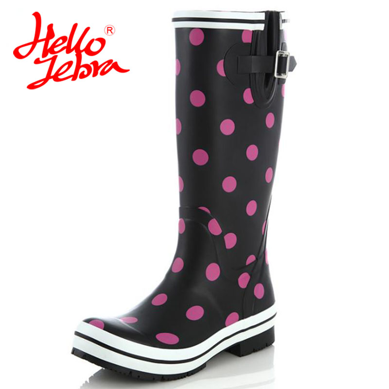 Hellozebra Women Rain Boots knee High Water Shoes Botas feminina thigh high booties Platform boots Thigh Fall Rubber 2017 New