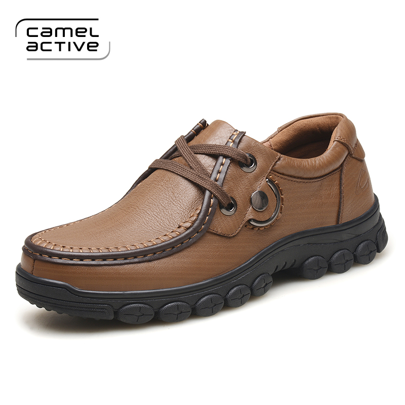 Camel Active Brand Men Casual Shoes Men 100% Genuine Leather loafers Shoes Lace-Up Handmade High Quality Male Casual boat Shoes benefit precisely my brow pencil карандаш для разделения бровей 03 medium коричневый