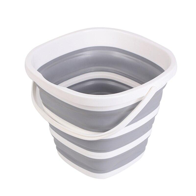 Ev ve Bahçe'ten Kovalar'de Silikon kova balıkçılık için promosyon katlanır kova araba yıkama açık balıkçılık malzemeleri kare 10L banyo mutfak kamp kova title=