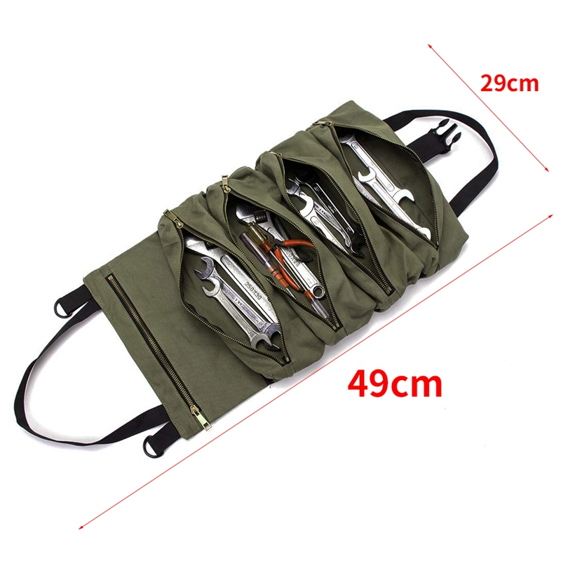 Top SalePouch Hanging-Tool Multi-Purpose-Tool Wrench-Roll Roll-Up-Bag Roll-Tool-Roll Zipper-Carrier