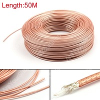 Areyourshop 5000CM RG179 RF Coaxial Cable Connector 75ohm M17/94 RG 179 Coax Pigtail 164ft Plug Jac