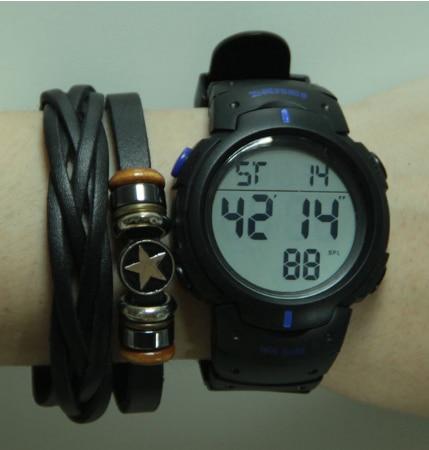 SKMEI мужские спортивные часы для активного образа жизни беговые большие цифровые часы хронограф 50 м водонепроницаемые часы - 5
