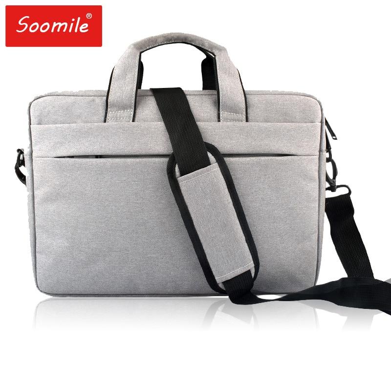 Soomile Laptop Bag 14 15 inch notebook Handbag Shoulder bag Fashion women men Briefcase Urban Office