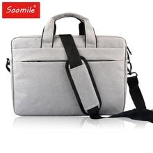 Soomile сумка для ноутбука 14 15 дюймов Сумка для ноутбука сумка на плечо модная Женская Мужская Портфель Городской офис Ipad сумки Maletin Hombre