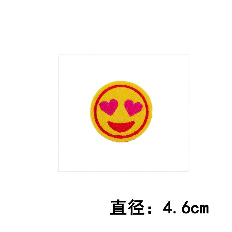 Aliexpress Buy Hot 1pc Smiley Round Symbol Emoji Embroidery