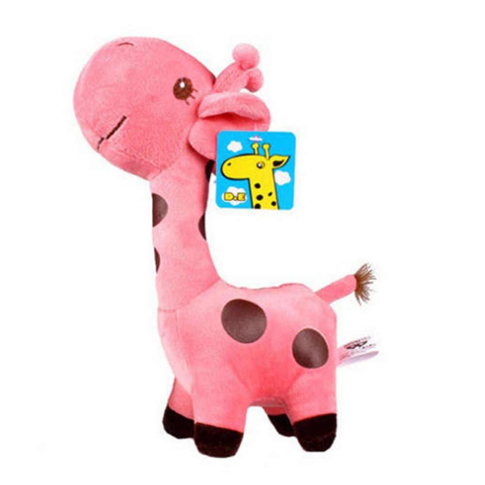 دمية ملونة للأطفال على شكل غزال حيوانات هدية حيوانات محشوة قطيفة للأطفال هدية للأب تشن 18 سنتيمتر زرافة قطيفة لطيفة
