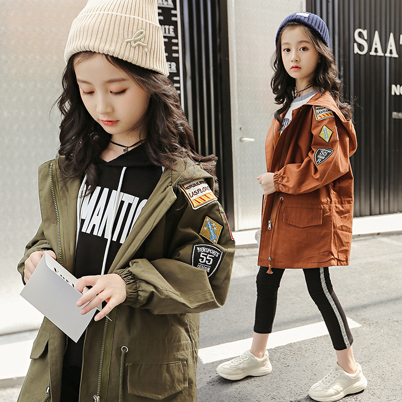 Spring autumn girls jackets casual kids girl outerwear girls fashion clothes kids jacket coat children girl print clothing 4-12T girl