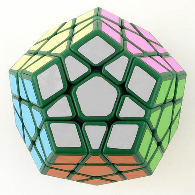 DaYan Megaminx I Plástico Cubo Mágico Verde Gran Niños Intelligece cubo mágico Puzzle Toy Envío Libre Por Todo el Mundo