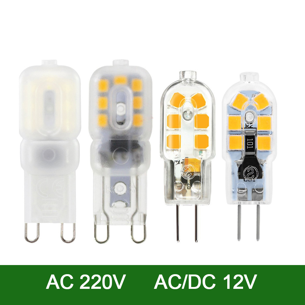 YWXLight G4 G9 LED Lamp Dimmable 3W 5W AC 220V DC 12V 2835SMD Replacement Lamp Halogen Lamp Spotlight Small Lights LED Light