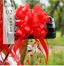 200 Uds ramo grande de Organza Día de San Valentín tirar lazo cintas boda coche arco puerta decoración regalo embalaje para boda decoraciones