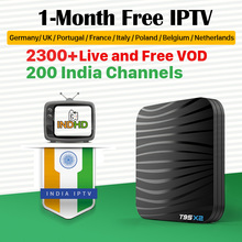 India Italy IPTV T95X2 Box 1 month Free IP TV Canada EX-YU Subscription 4K Germany Turkey Africa