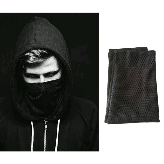 Alan walker All falls down Veil Reticulate Cosplay Scarf Full Face Mask Adult Black Masks