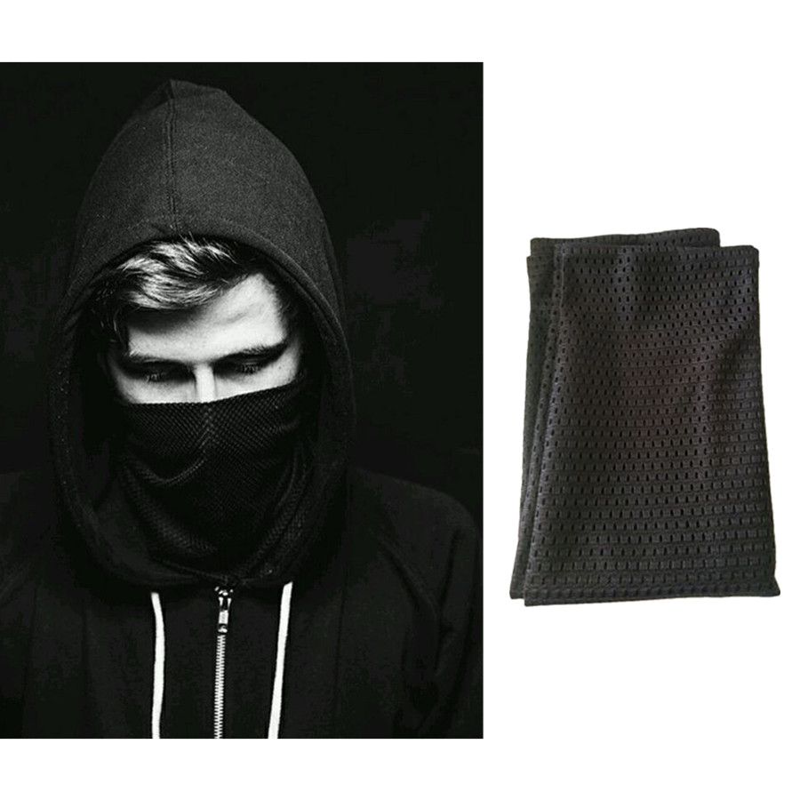 Alan walker All falls down Veil Reticulate Cosplay Costume Full Face Adult Black Masks