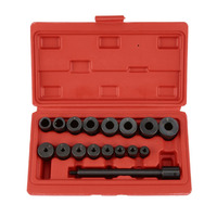 17 Pcs Universal Clutch Aligning Tool Kit Pilot Bearing Set Alignment Setting Tool for Auto Cars & Vans Garage Tool Set