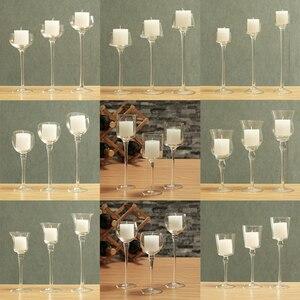 Image 5 - 3 szt. Zestaw świeczniki dekoracje ślubne producent świecznik świecznik na herbatę światło strona główna Bar strona dekoracji