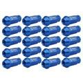 Coche que labra 20 unids universal del coche azul de metal wheel racing tuercas m12x1.5mm accesorios para toyota para honda para mazda venta al por mayor