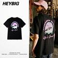Europeu Quente Camisetas vida é grande mar verão Tee impressão Férias Casual Tops Streetwear HEYBIG hiphop Homens Camisa Tamanho Asiático THDX