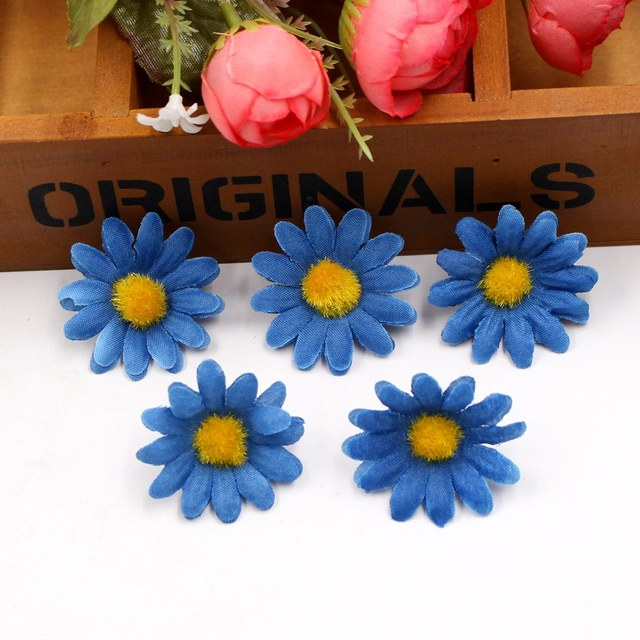 Mini Colorful Daisy Flower Heads Set